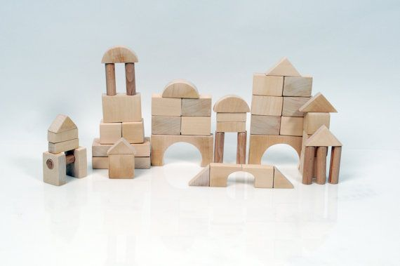 Wooden Play Blocks  Wooden Blocks  Montessori by beigebois on Etsy, €30.00