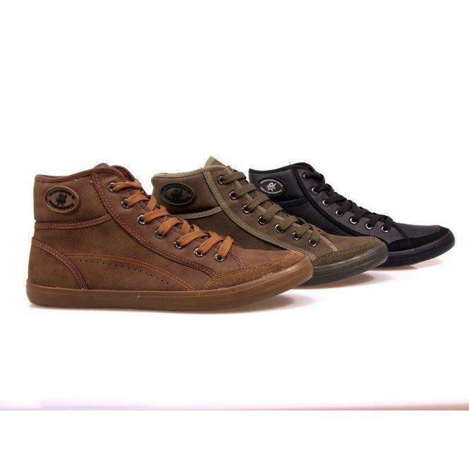 Wysokie Trampki 201 Czarny Czarne Sneakers Men Sneakers High Sneakers