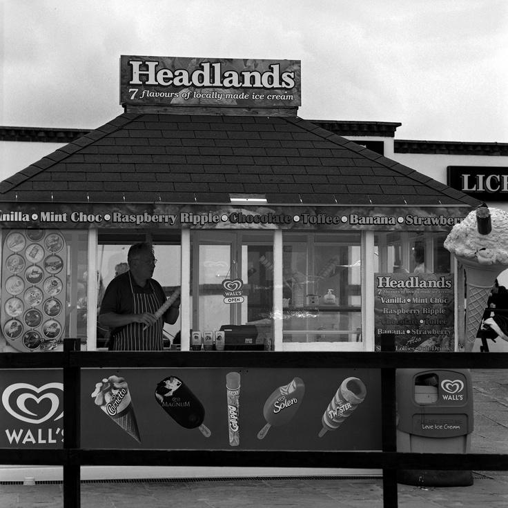 Headlands by Keith Moss. http://keithmoss.co.uk #landscape #keithmoss #sea #icecream #beach #film #ilford