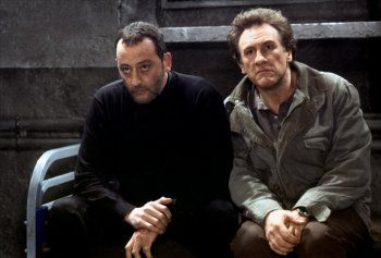 Jean Reno and Gérard Depardieu in Tais-toi ! directed by Francis Veber, 2003
