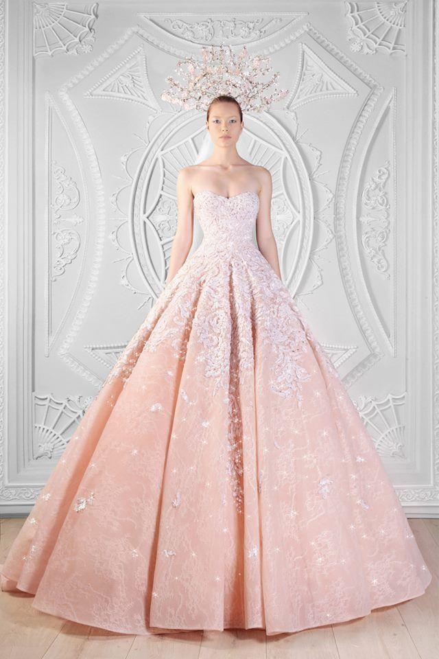 182 best pink wedding dresses images on Pinterest | Bridal gowns ...