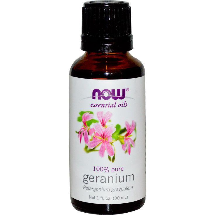 Now Foods, Essential Oils, Geranium, 1 fl oz (30 ml)