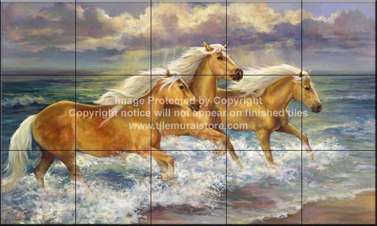 Tile Backsplash Kitchen Horse Tile Mural Fantasea