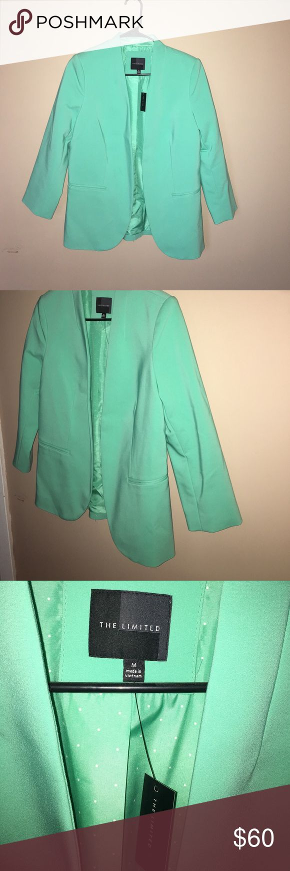 Dark Mint Green Blazer Dark mint green 3/4 sleeve blazer from the Limited. Never worn, tags still on 😊 The Limited Jackets & Coats Blazers