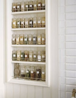 Spice rack inside pantry door?