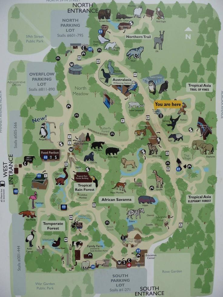 Woodland Park Zoo Map  Seattle  Pinterest  Parks