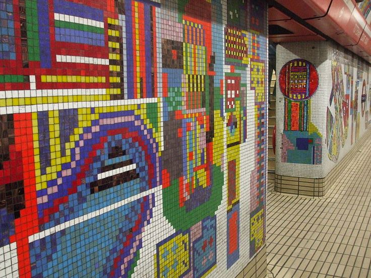 Eduardo Paolozzi mosaic designs for Tottenham Court Road Station.