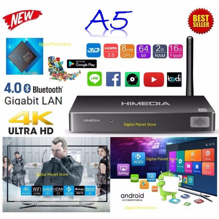 รีวิว สินค้า Himedia A5 Amlogic S912 Octa Core 64bit RAM 2G ROM 16G WiFi 2.4+5.0 GHz Android UHD TV Box OS 6.0 Marshmallow (Black) ✓ กระหน่ำห้าง Himedia A5 Amlogic S912 Octa Core 64bit RAM 2G ROM 16G WiFi 2.4 5.0 GHz Android UHD TV Box OS 6.0 Ma ก่อนของจะหมด | codeHimedia A5 Amlogic S912 Octa Core 64bit RAM 2G ROM 16G WiFi 2.4 5.0 GHz Android UHD TV Box OS 6.0 Marshmallow (Black)  แหล่งแนะนำ : http://online.thprice.us/y7dgZ    คุณกำลังต้องการ Himedia A5 Amlogic S912 Octa Core 64bit RAM 2G…