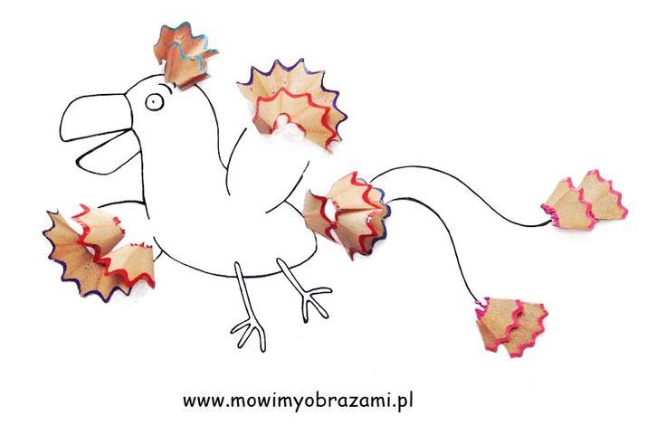 Kredkowy ptak