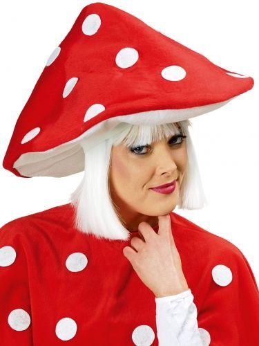 Fliegenpilz Kostüm-Set 2-teilig Umhang und Hut rot-weiss