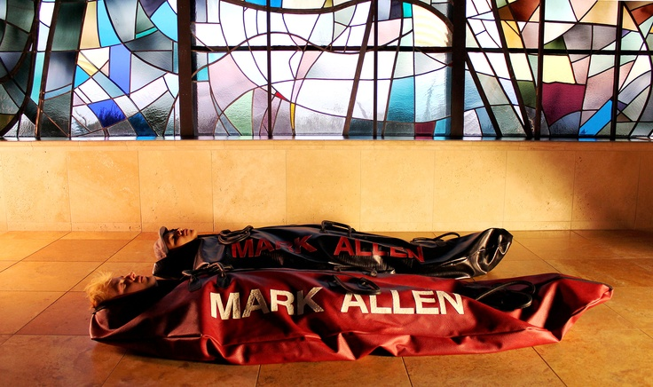 Performance still with Kai Akira and Mark Allen. MarkAllenBodybags.com    #awesome #singing #death #bodybags #fashion #art #markallen