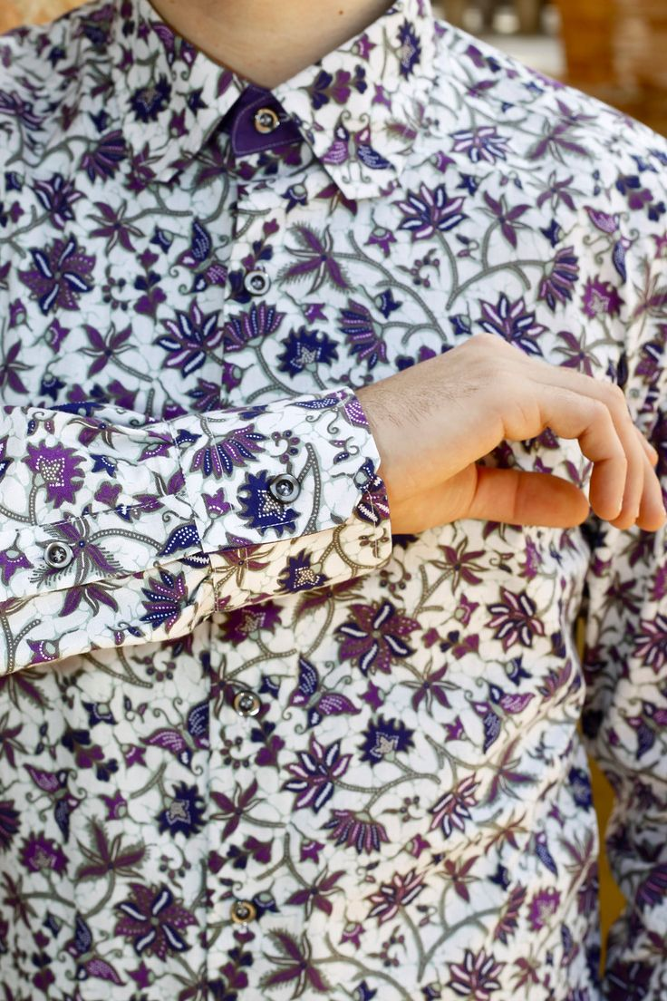 "Indonesian Fabric Men Shirt ""BATIK LILO"""
