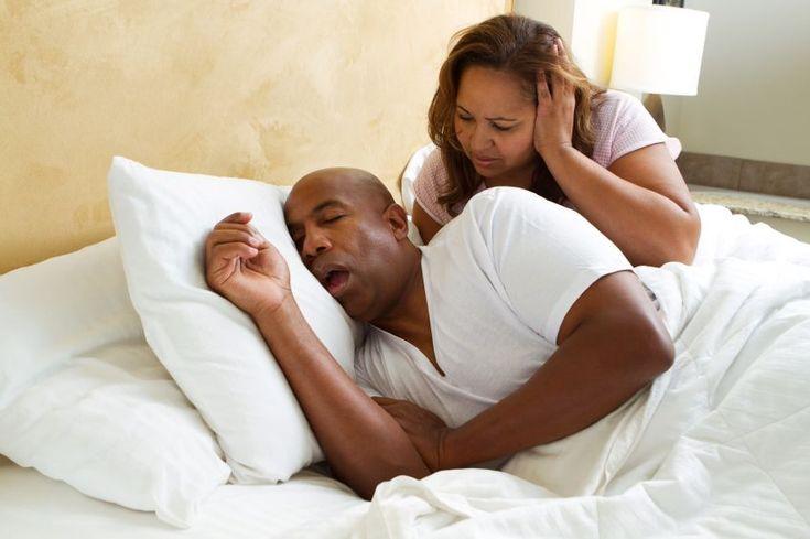 Man Snoring - See more sleep apnea tips at StopSnoringPlease.com