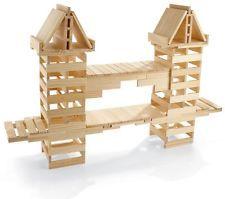 200 Piece Wooden Plank Building Set - 100% Maple