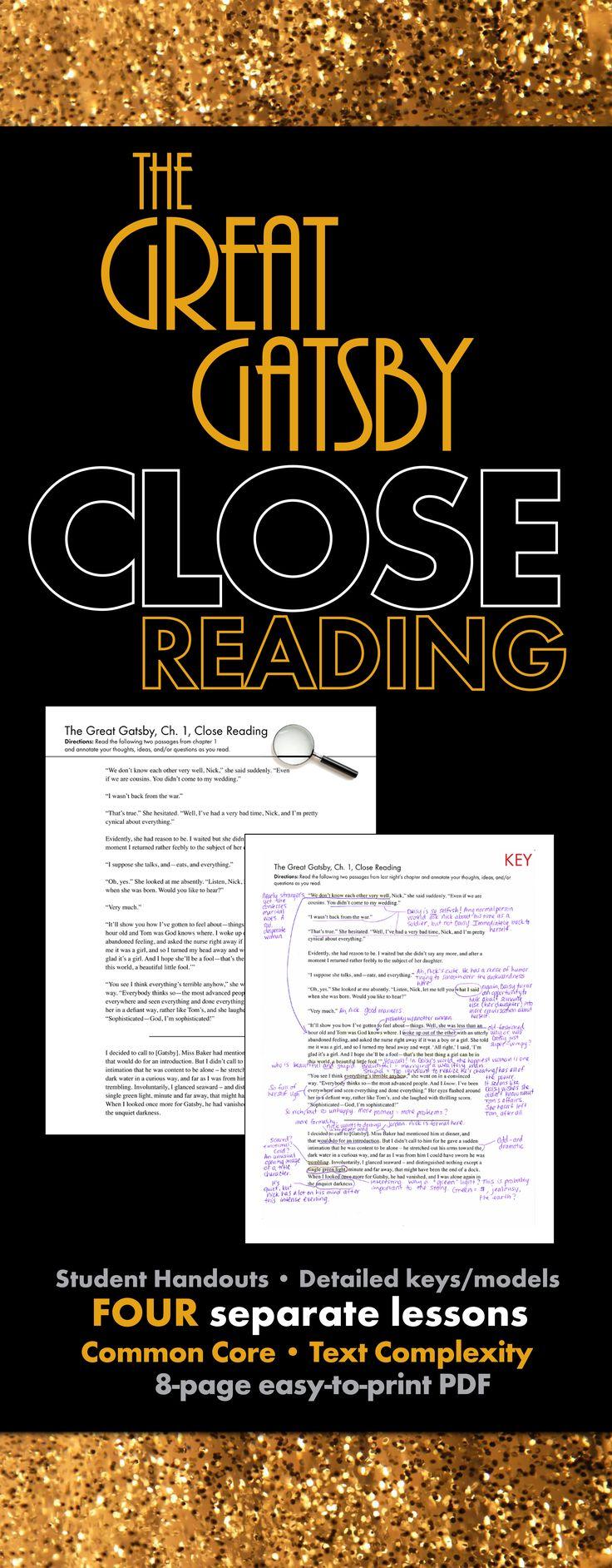 great gatsby commentary f scott fitzgerald's use Bruccoli, matthew joseph (ed) (2000), f scott fitzgerald's the great gatsby: a literary reference, new york: carroll & graf publishers.