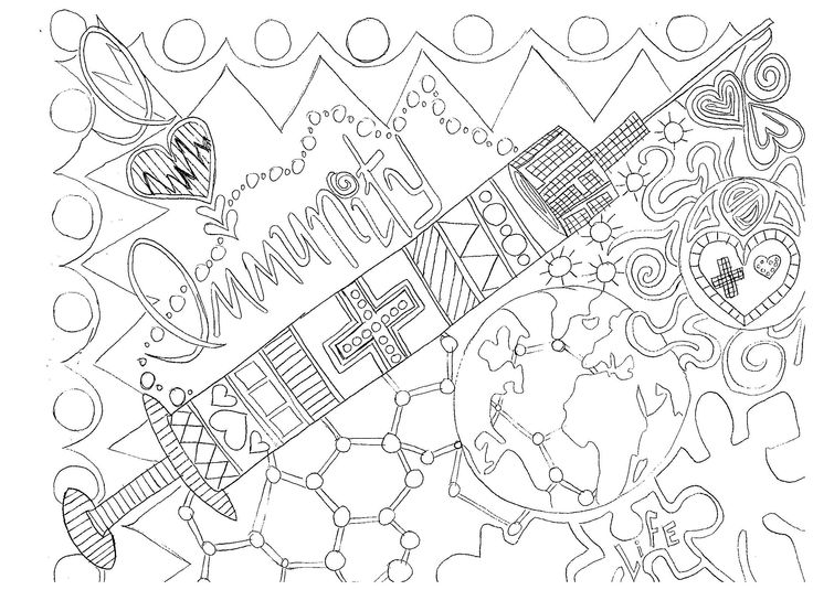 I love #immunity! #vaccines Adult #coloring page. High res