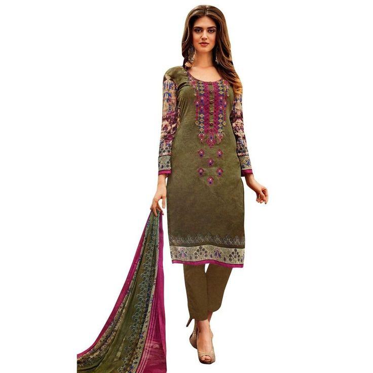 Readymade Print & Embroidered Cotton Salwar Kameez Suit Indian  #FreeShipping #SalwarSuit #ShopNow #LowestPrice #Designer #NewStuff #SalwarKameez #DressMaterial