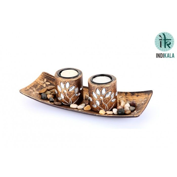 Name : Wood Crafted Tea Light Candle Holder Price : Rs 499 Buy Now at : http://www.indikala.com/containers/wood-crafted-tea-light-candle-holder.html #luxury #ethnic #homedecor