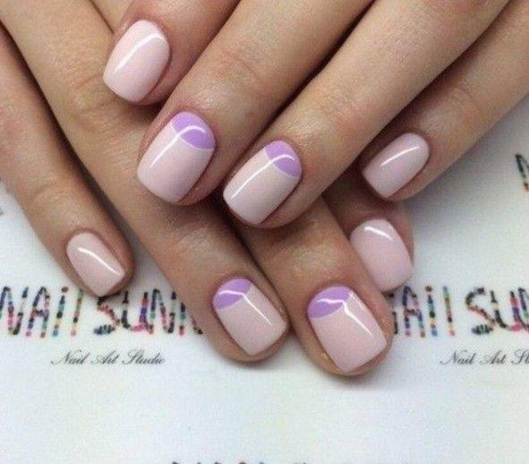 Reverse French Manicure Pretty