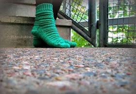 Knitted stripe socks