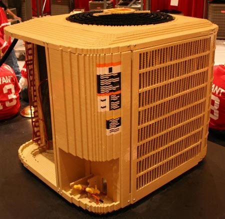 Man Builds LEGO Air Conditioner | Geekologie