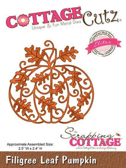 Cottage Cutz - Die - Filigree Leaf Pumpkin,$19.95