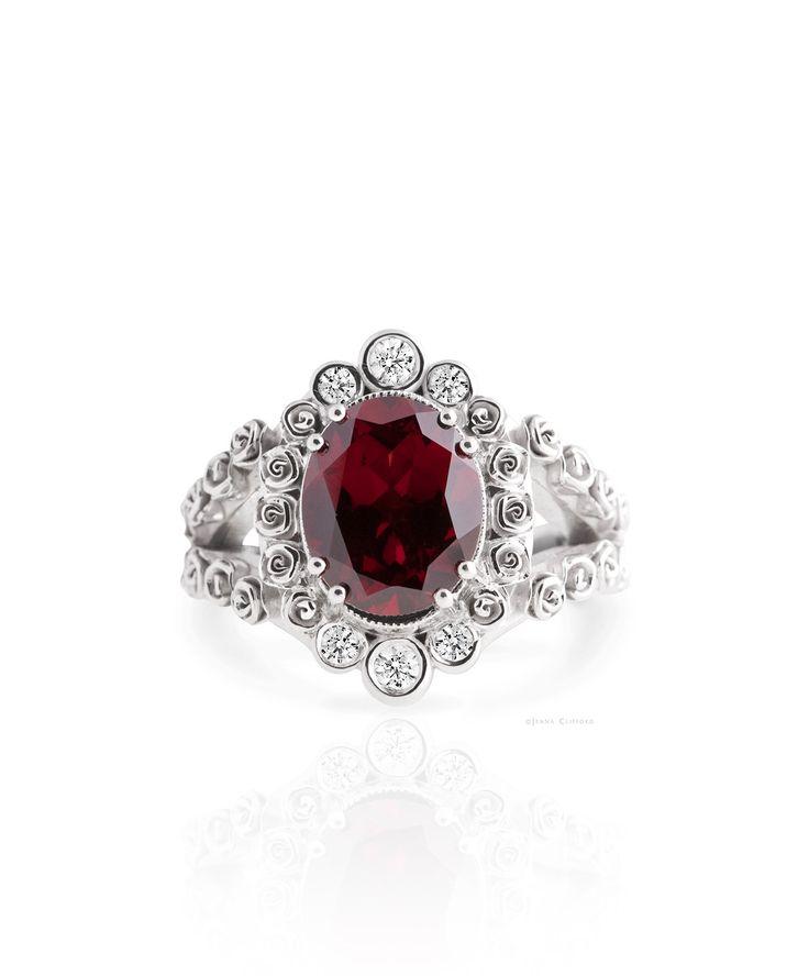 Autumn colour magic - Vintage inspired garnet ring. Paisley Ring – Jenna Clifford #JennaClifford Think this is my favorite