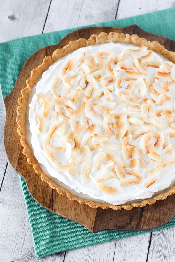 If I had to choose my favorite pie, I couldn't possibly pick just one. It's a close tie between pumpkin and coconut cream. Hands down, the two best pies around. I guess I just have a soft spot for the creamy pies. My dad loves coconut desserts and coconut cream pie is one of his faves too. …