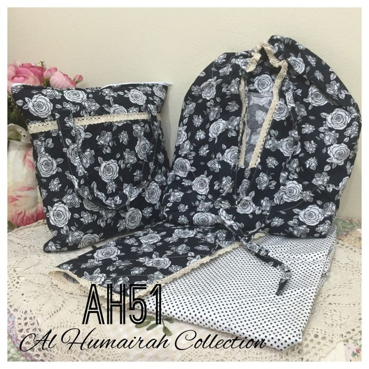 Al Humaira Telekung Cotton – AH51  RM150.00  – Telekung cotton with printed design  – Special vintage style design  – Japanese cotton material  – Face size up to L size  – Set includes beautiful handmade bag & mini sajaddah  – Limited pieces  http://www.telekung.co/product/ah51/