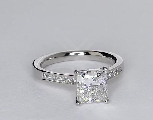 2 Carat Diamond Princess Cut Channel Set Diamond Engagement Ring | Recently Purchased | Blue Nile