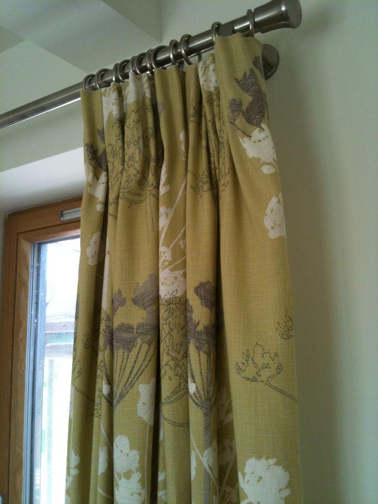 Steel pencil curtains forward deep pencil pleat headed curtains