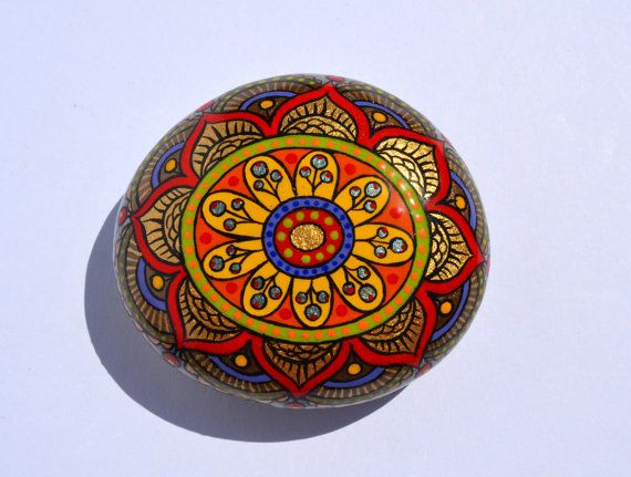 Hand Painted Rock  Magic Rock Pebble by PleasureForTheSOUL on Etsy