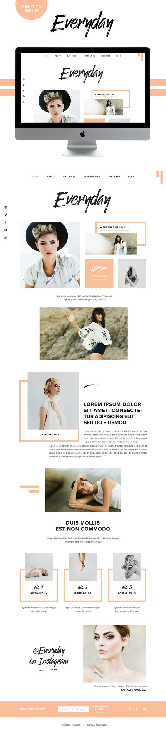 I love every last one of the their new Showit 5 designs! I can't believe I'm just now hearing about Showit. To win any of these designs would be a blessing. || modern website showit5 inspiration | BY GOLIVEHQ.CO