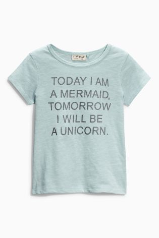 Buy Blue Mermaid Unicorn T-Shirt (3-16yrs) online today at Next: United States of America