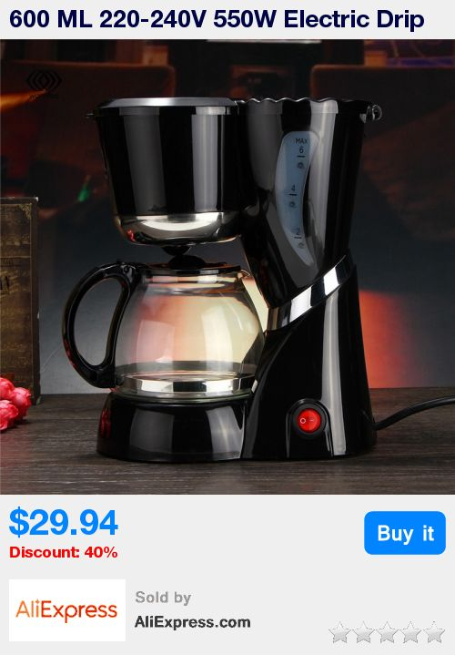600 ML 220-240V 550W Electric Drip Coffee Maker Machine Black Hourglass Make Cafe Tea Multifunctional AU * Pub Date: 12:22 Jul 1 2017