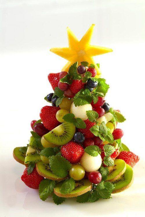 dicembre...tempo di #Natale! #benessere e allegria in questo albero di Natale di frutta! :)