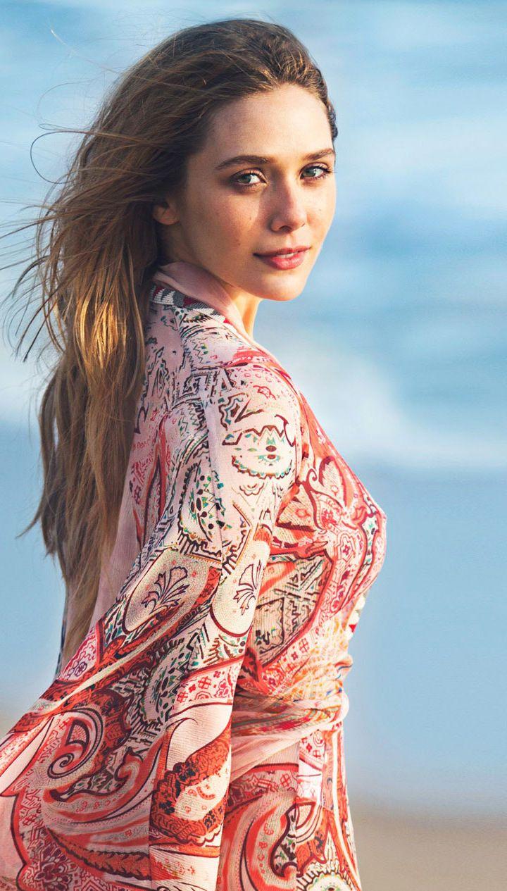 outdoor, long hair, elizabeth olsen, 720x1280 wallpaper | celebrity