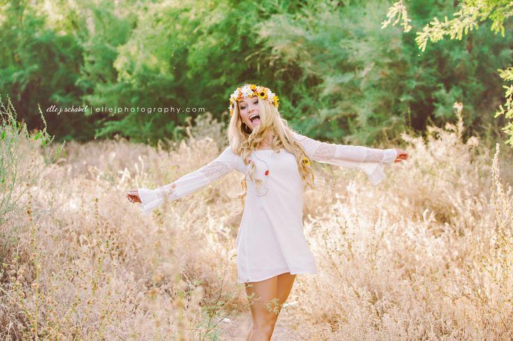 chandler high school senior | senior portraits | arizona senior portraits | flower child | floral crown.