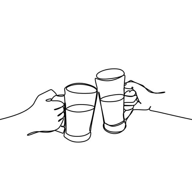 Continuous Line Drawing Of Cheers Clinking Of Friends With Bourbon Whisky Drink In Party Night After Work Vector Illustration Arm Wineglass Graphic Png And V Continuous Line Drawing Line Drawing Wine
