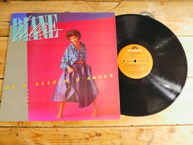DIANE TELL ON A BESOIN D'AMOUR LP VINYLE 33T EX COVER VG+ ORIGINAL 1984