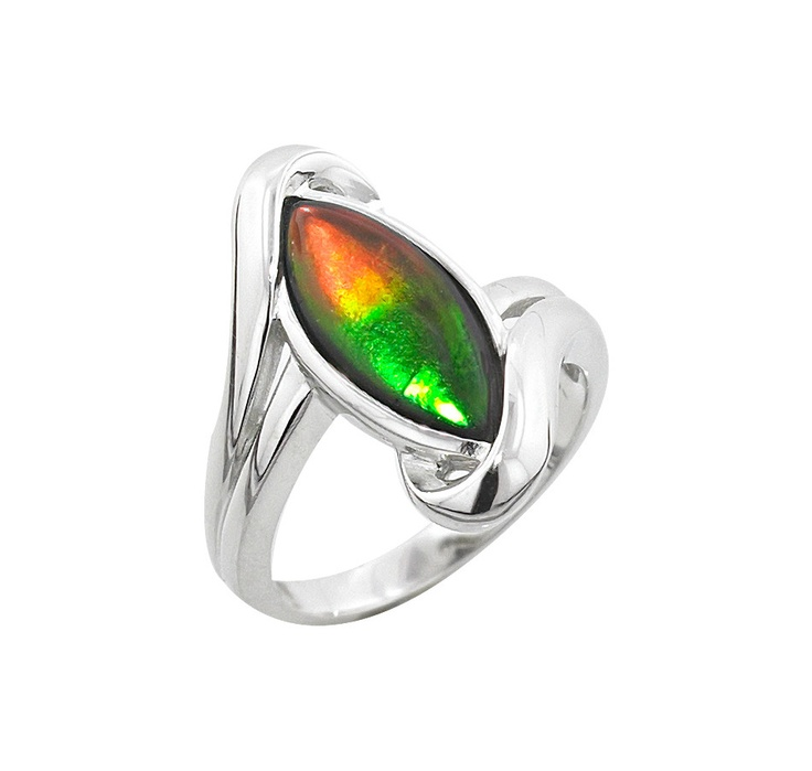 Buy Sterling Silver & Rhodium Plate Marquise Ammolite Ring, Ammolite Gems and Rings from The Shopping Channel, Canada's home shopping network - Online Shopping for Canadians