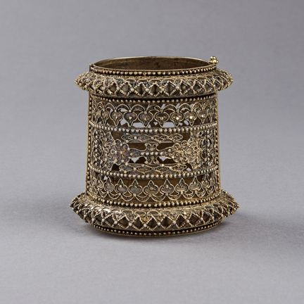 Indonesia | A Gold Armlet | Bugis Sulowesi, Coastal Islamic | 19th Century