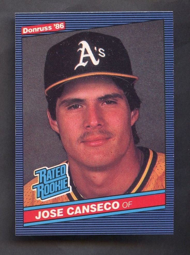 1986 donruss rated rookie 39 jose canseco oakland as rc