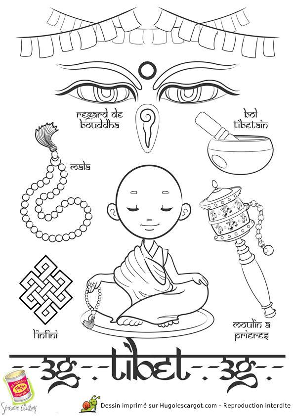 Coloriage / dessin enfant Tibet