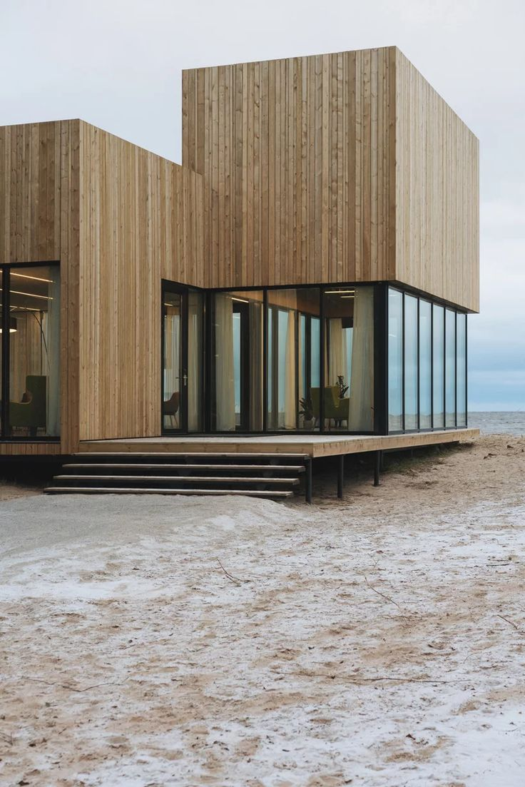rhizome reinvents the modern villa in living room pavilion in russia