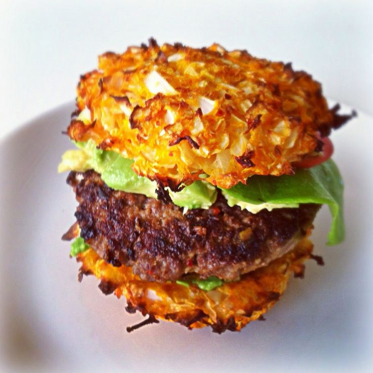 Paleo burger. The bun is made of veggies. No flour is added