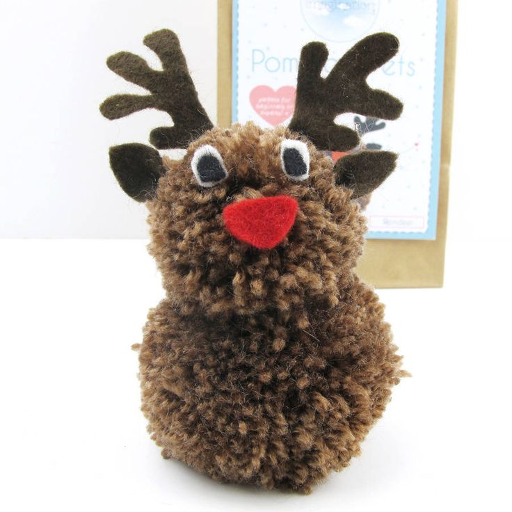 pom pom pets craft kit reindeer by sarah hurley ...