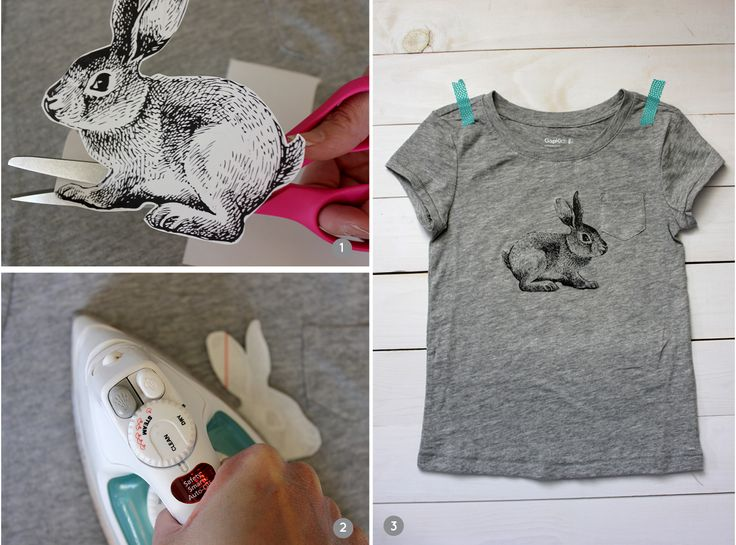 Diy Iron On Bunny Tshirt With Free Printable You Could Use This A