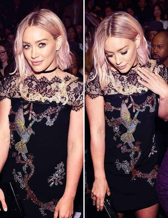 Hilary Duff's bob was spot on for New York Fashion Week. Get more Hilary hair inspiration in full episodes of Younger on TV Land at http://www.tvland.com/shows/younger.