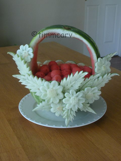 Watermelon Daisy Basket